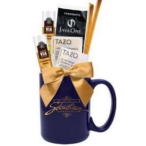 Coffee,Tea, Sugar, Honey Gift Mug (Navy Blue)