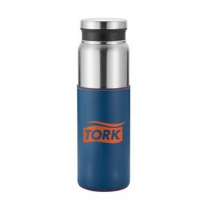 Salerno - 25 oz stainless steel bottle with vegan sleeve