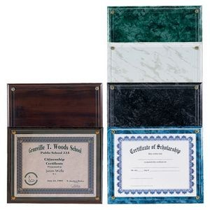 "Certificate Holder Plaque w/Side Opening (10½""x13"")"