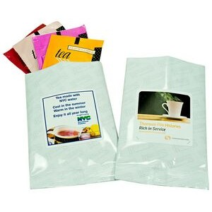 Flavored Tea Sampler w/White Foil Packaging