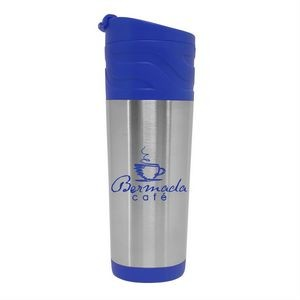 18 oz. Stainless Steel Tumbler with Auto Sip Lid