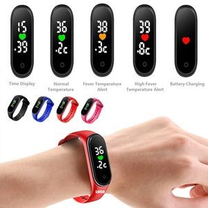 Bracelet Thermometer With Watch