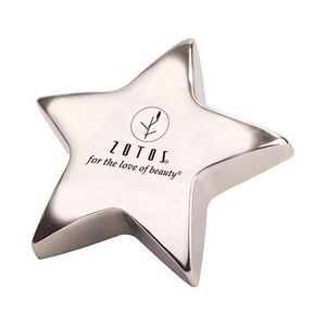 Silver Star Paper Weight