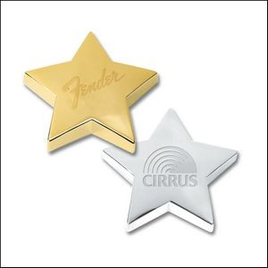 "Silver Plated Star Paper Weight (4""x4""x1"")"