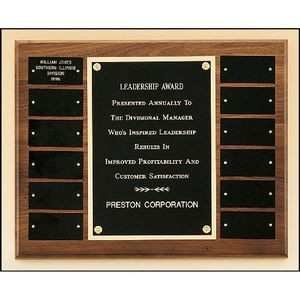 Walnut Frame Perpetual Plaque 12x15