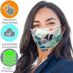 Full Color 4 Layer cloth with Adjustable Safety Face Mask